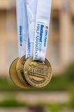 Bucharest internationell halv maraton 2015 Arkivbilder