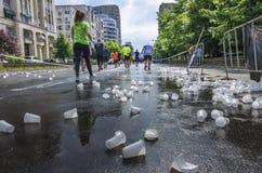 Bucharest internationell halv maraton royaltyfri foto
