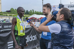 Bucharest internationell halv maraton fotografering för bildbyråer