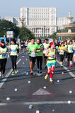 Bucharest internationell maraton 2015 Royaltyfria Foton