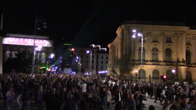 Bucharest light festival stock video footage