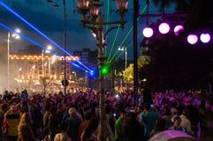 Bucharest lights night 2015 Stock Photos