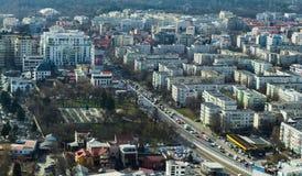Bucharest - Luftaufnahme stockfoto