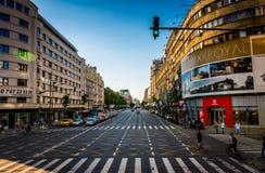 Bucharest Boulevard Royalty Free Stock Photos