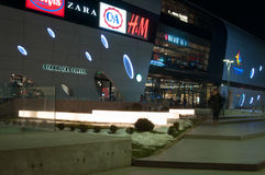 Bucharest mall by night Royalty Free Stock Image