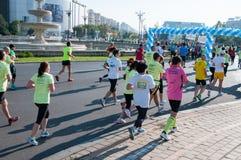 Bucharest marathon runners Stock Image