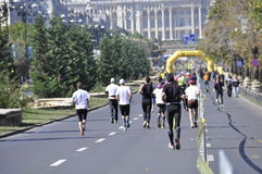 Bucharest marathon runners Royalty Free Stock Images