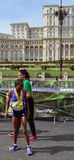 Bucharest Marathon 2015: Warjik Zeritu, winner of the women's ra stock photo