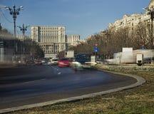 Bucharest miasta ruch drogowy Obrazy Royalty Free