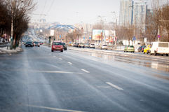 Bucharest Mihai Bravu boulevard Stock Image