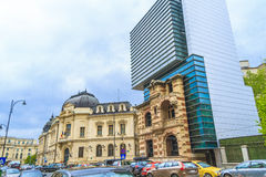 Bucharest. Modern buildings in Bucharest city, Romania stock photography