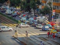 Free Bucharest Morning Traffic Blockage Royalty Free Stock Photo - 77056425
