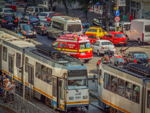 Free Bucharest Morning Traffic Blockage Royalty Free Stock Images - 77056449