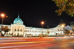 Bucharest-Nachtszene 10 Stockbild