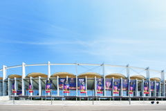 Bucharest National Arena before Europa League Stock Image