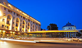 Bucharest nattplats 1 Royaltyfri Bild