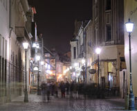 Bucharest nattplats Arkivfoton