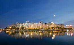 Bucharest at night Stock Image