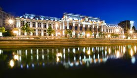 Bucharest at night. Night scene of Justice Palace, Bucharest, Romania Royalty Free Stock Images