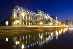 Bucharest at night. Night scene of Justice Palace, Bucharest, Romania Stock Photos