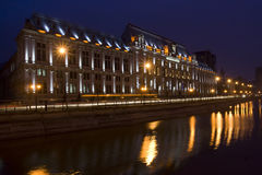 Bucharest by night royalty free stock photo
