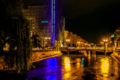 Bucharest at night Royalty Free Stock Photos