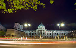 Bucharest by night - Coltea Old Hospital and Churc royalty free stock photography