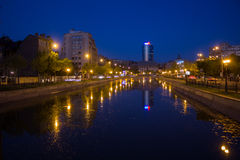 Bucharest in the night Royalty Free Stock Image