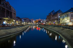 Bucharest in the night Stock Images