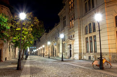 Bucharest by night - The Historic centre Royalty Free Stock Photo