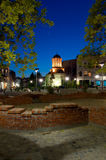 Bucharest by night - Old Court Church and plaza Royalty Free Stock Photo