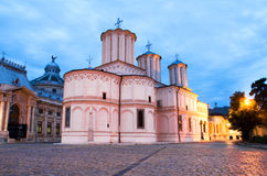 Bucharest by night - Patriarchal Cathedral Royalty Free Stock Photography