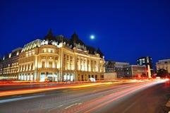 Bucharest night scene royalty free stock photos
