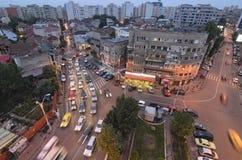 Bucharest - night scene royalty free stock photo