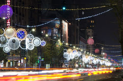 Bucharest night scene Stock Images