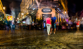 Bucharest at Night. Night scene. Old city center Bucharest Stock Photography