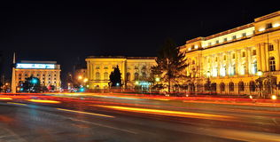 Bucharest night scene Royalty Free Stock Images