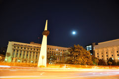 Bucharest night scene Stock Photography