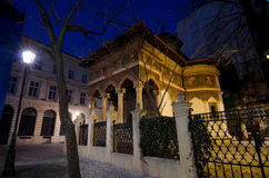 Bucharest by night - Stavropoleos Monastery Royalty Free Stock Image