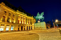 Bucharest at Night Royalty Free Stock Image