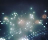 Bucharest nowego roku fajerwerki zdjęcie stock