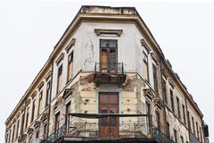 Bucharest old architecture in ruin Royalty Free Stock Photo
