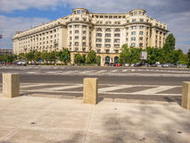 Bucharest old arhitecture facade from Constitutiei square Royalty Free Stock Photography