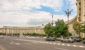 Bucharest old arhitecture facade from Constitutiei square Royalty Free Stock Photos