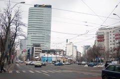 Bucharest old boulevard Stock Image