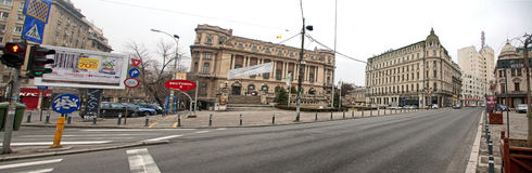 Bucharest old buildings panorama Royalty Free Stock Photography