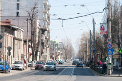Bucharest old streets Royalty Free Stock Photos