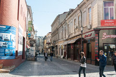 Bucharest old town in midday Stock Photo