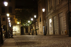 Bucharest old town at night (Romania) Royalty Free Stock Photos