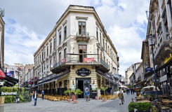 Bucharest Old Town, Romania. Bucharest's Old Town is a mix of history, local culture and life style, a trendy entertainment district and favorite hangout for Stock Photography